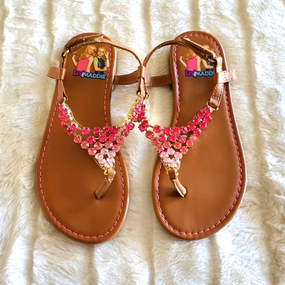 Live and Maddie Crystals Sandals